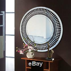 Grand Couloir Artistique De Salon De Cercle De Miroir De Mur De L'argent 80cm Rond Accrochant