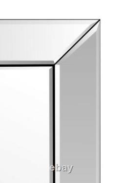 Grand Miroir Mural Argent Art Déco Cadrage Exempté 5ft7x1ft11 170x58cm