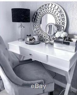 Grand Miroir Mural Argent Art Déco Trumeau Marocain La Vente De Ruche Ronde
