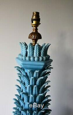 Grande Lampe De Table D'appoint En Laiton Avec Poterie En Céramique Espagnole Vintage Casa Pupo