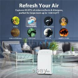Grands Purificateurs D'air De Pièce 5 Étape H13 Vrai Nettoyeur D'air À La Maison D'hepa Pour Des Allergies