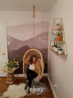 Hanging Canne À La Main En Osier Chaise Balançoire
