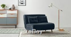 Haru Blue Velvet Sofabed Made. Com