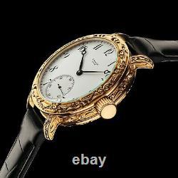 Homme Wrist Watch Vintage Mécanique 17j Restauré Mouvement Suisse Ulysse Nardin