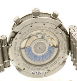Hommes Montega Geneve Mc01 R9 Acier Inoxydable Chrono Automatique 3475 Limitée