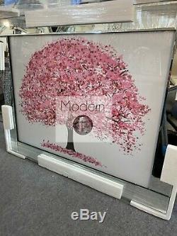 Image Arbre Fleur Rose Dans Le Cadre Miroir Avec Des Détails D'art Paillettes