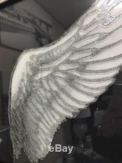 Image D'ailes D'ange Avec Des Paillettes Dans Un Cadre En Miroir, Photo D'art D'ailes D'ange