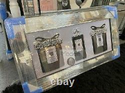 Image De Parfum 3d Noire Et Blanche Avec Le Cadre Miroir, Pic De Parfum De Concepteur