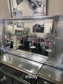 Image En Miroir Extra-large De Miroir De Paillettes 3d De Verre De Cocktail Rose, Image De 4 Verres
