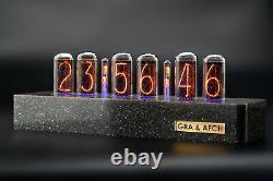 In-18 Nixie Tubes Horloge Synthétique Granite Case Gps 12/24h Livraison Gratuite 3-5 Jours