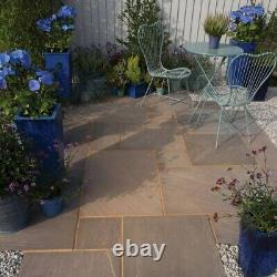 Indian Blended Sandstone Natural Paving Dalles Rustic Grey Garden Patio Stones Aa