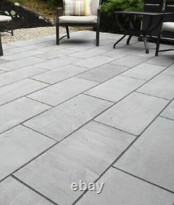 Indian Kandla Silver Grey Sandstone Hand Cut Patio Stone Paving Dalles 600x900 MM