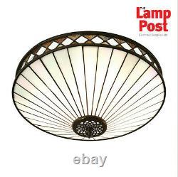 Intérieurs 1900 64145 Fargo Tiffany Style Moyen Art Déco Flush Plafond Lumière