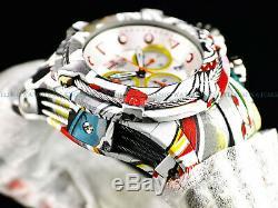 Invicta Bolt Zeus Hydroplated Bracelet Graffiti Blanc Chronographe 52 MM Montre Nouveau