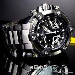 Invicta Forces De La Coalition Grand-octane Black Silver Steel 58mm Horlogère Suisse Nouveau
