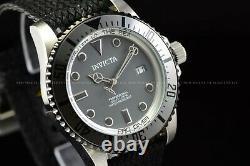 Invicta Homme 44mm Pro Diver Automatic Gun Metal Grey Polyster Strap Montre Ss