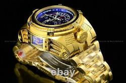 Invicta Homme 56mm Bolt Zeus Tria Gold Plaqué Blue Choronograph Swiss Watch