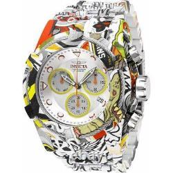 Invicta Homme Boulon Chronographe Argent Et Bracelet De Cadran Jaune 27095