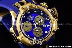 Invicta Men 55mm Subaqua 3 Poséidon Age Of Empire Blue Mop Chrono 18k Gold Watch