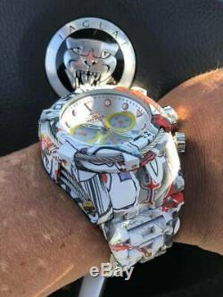 Invicta Mens Bolt Zeus Quartz Chrono Graffiti Hydroplated Ss Bracelet Montre