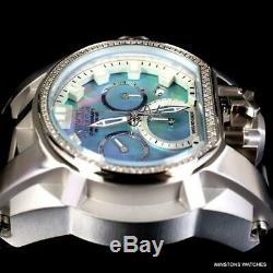 Invicta Réserve Magnum Bolt Zeus Diamant Platinum Mop Suisse Mvt Nouvelle Montre 52mm