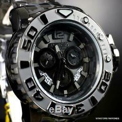 Invicta Sea Hunter Gen II Swiss Mvt Chronographe Noir En Acier Inoxydable 70mm Nouveau