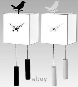 Invotis Bird Pendulum Clock On Mirror Cube Hanging Wall Designer Wil Van Den Bos