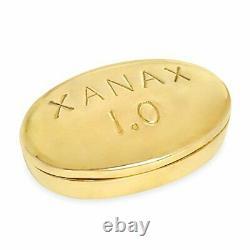 Jonathan Adler Pill Box En Laiton Xanax
