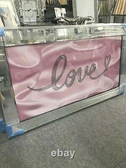 L'amour Rose Scintille L'image Miroir, Scintille L'image Miroir Cadre