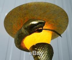 Lampadaire Rare Snake De Edgar Brandt Original Vendu Pour 76 000 $