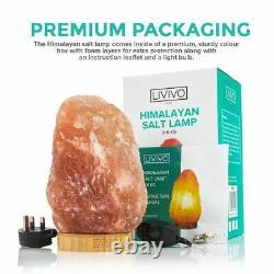 Lampe De Sel De L'himalaya Crystal Pink Rock Salt Lamp Natural Healing 100% Authentique