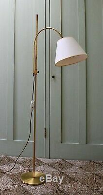Lampe De Table D'appoint, Hall De Lecture, En Laiton, Vintage Koch & Lowy Omi