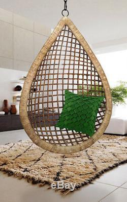 Larme De Suspension De Canne En Osier Balancelle Egg