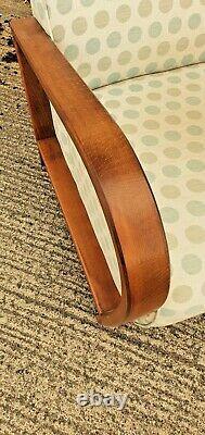 Laura Ashley Darwin 30s Art Deco Style Bentwood Oak Armchair Vintage MIDI Century