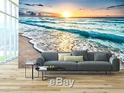 Lever De Soleil Sur La Plage 3d Murale Photo Wallpaper Décor Grand Mur Papier