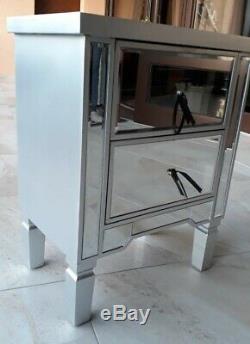 Lila Table De Chevet Mirrored