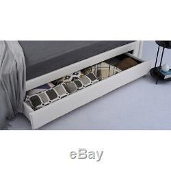 Lit En Cuir Blanc 4ft6 Duble 5ft Lit King Size Avec Repose-pieds