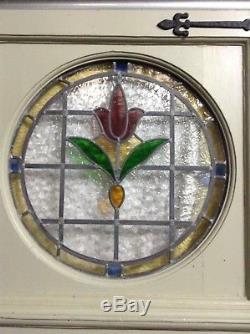 Livraison De La Porte D'entrée En Vitrail De Style Art Déco Edwardien Des Années 1930