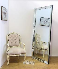 Luna Moderne, Miroir De Plancher Maigre, Taille Totale, Xlarge, Sans Cadre, 178cm X 76cm