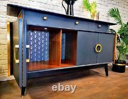 Luxury King Size Vintage 1960's Retro Credenza Art Deco Buffet Tv Media Unit