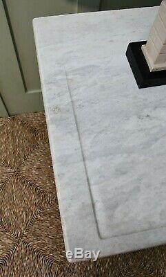 MID 20 C Français Marbre Ebène Salle Console Lampe Lit Side Sofa Table