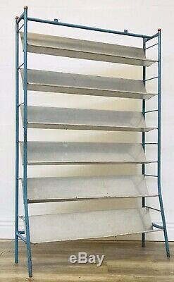 MID Siècle Bibliothèque Système D'étagères Century Industrial MID Vintage