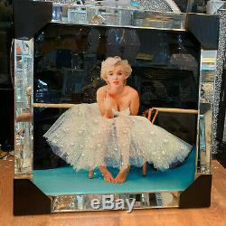 Marilyn Monroe Chic Shimmer En Cristal De Diamant Liquide Art Miroir Cadre Mur