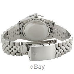 Mens Rolex Datejust 36mm Diamond Watch Jubilee Band Custom Steel Red Dial 2 Ct