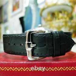 Mens Vintage Rolex Oyster Perpetual Date 34mm Black Dial Diamond Bezel Watch