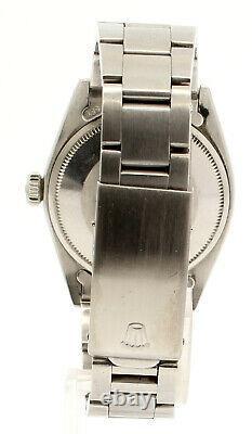 Mens Vintage Rolex Oyster Perpetual Date 34mm Blue Dial Montre En Acier Inoxydable