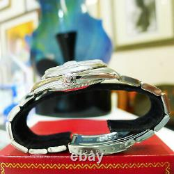 Mens Vintage Rolex Oyster Perpetual Date 34mm Silver Dial Montre En Acier Inoxydable