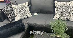 Meubles Complets D'ensemble De Jardin 4 Sofa Et Table D'angle De Siège Avec Des Coussins De Siège
