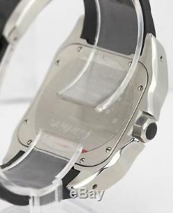 Mint Cartier Santos 100 XL Les Hommes De 38mm En Acier Inoxydable Montre En Caoutchouc 2656 W20121u2