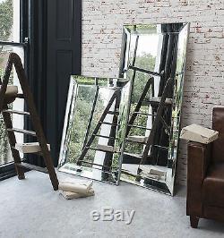 Miroir Overmantle Avec Mur De Placage, Grand Format, Modena, Format 31 X 43